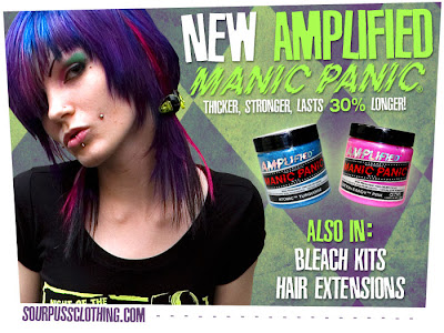 New Manic Panic Amplified hair dye!