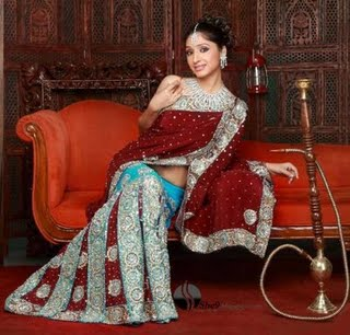[indian_bridal_saree_blue_red.jpg]