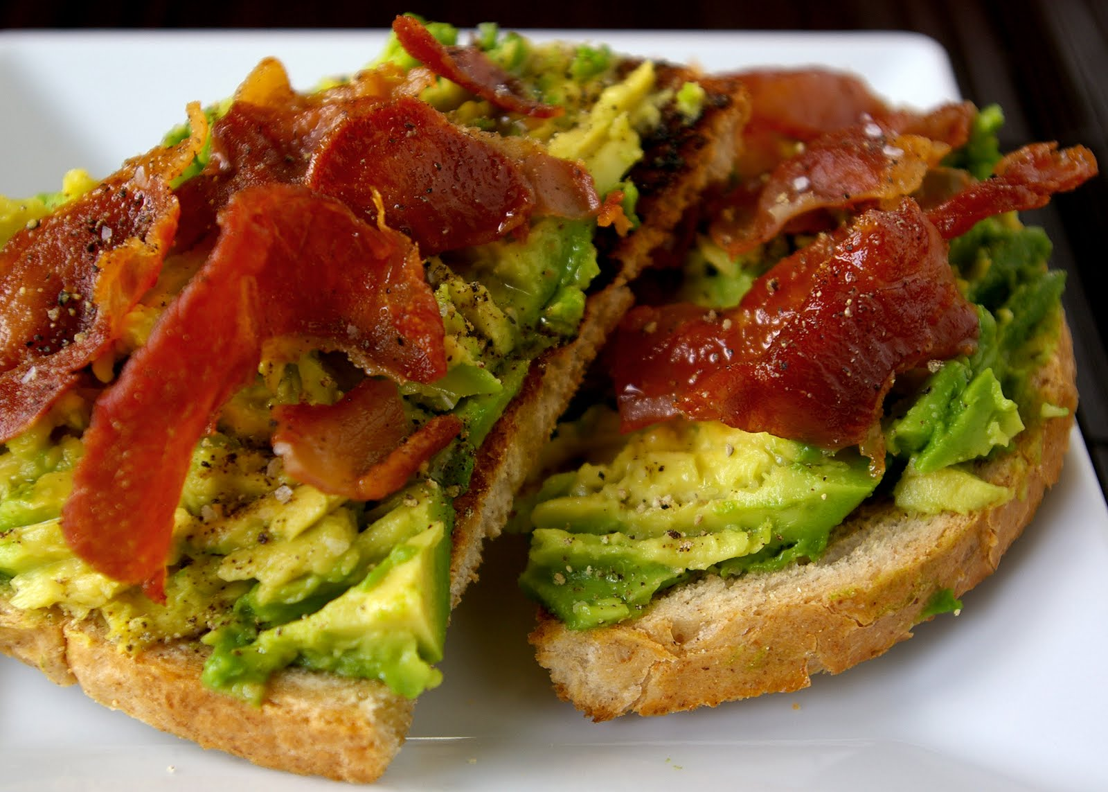 bacon avocado toasts avocado bacon and tomato toast avocado on toast a ...