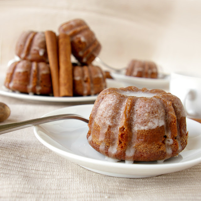 These Peas are Hollow: Gingerbread Bundts with Cinnamon Glaze