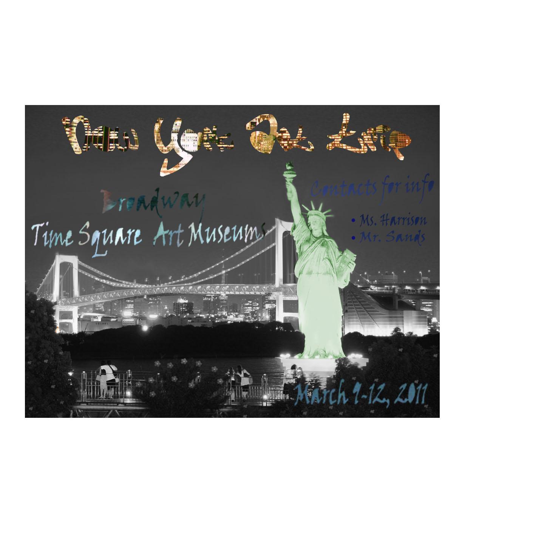 New york art trip poster