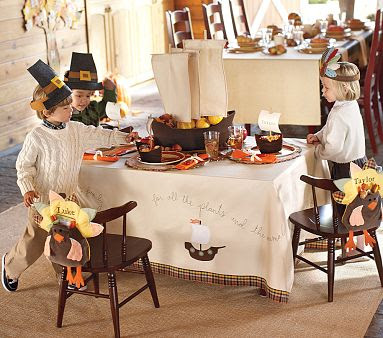 20 thanksgiving kids table ideas for Pottery barn thanksgiving
