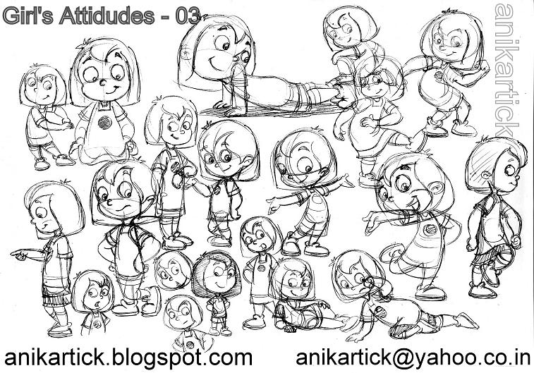 cute baby sketches Artist ANIKARTICK SKETCHES: Character Designs of  title=