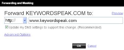 paid domain name at blogger.com