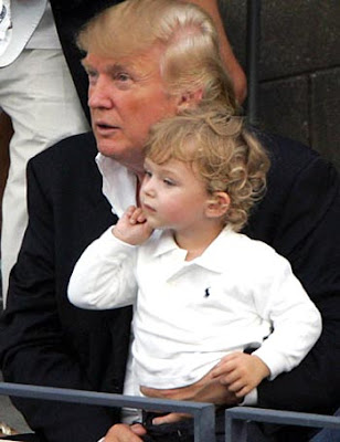 donald trump kids. Donald Trump and his son Baron
