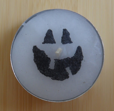 halloween crafts: boo candles tutorial
