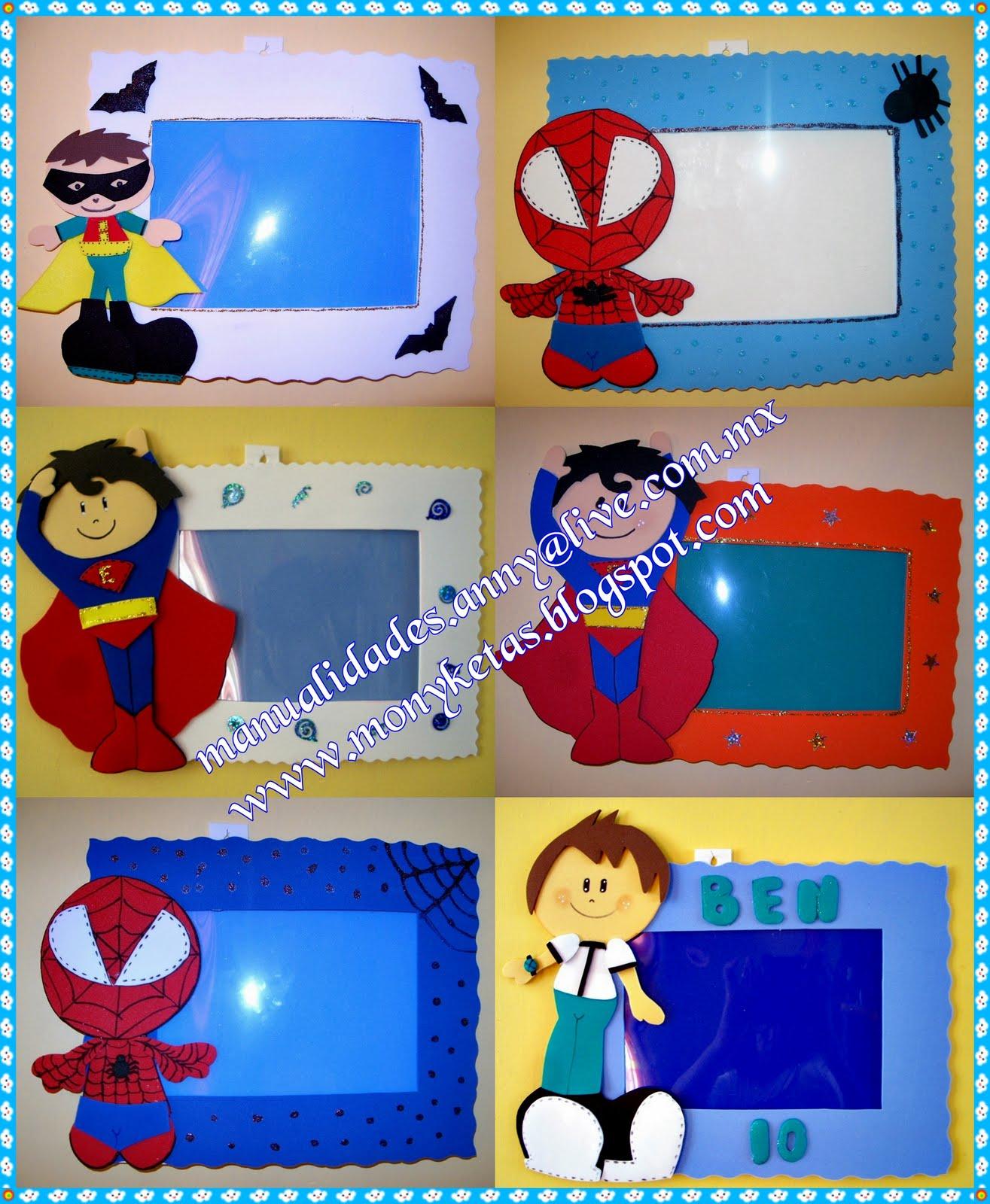 Monyketas fofuchas dulceros y algo mas mayo 2010 - Marcos de fotos manualidades ...