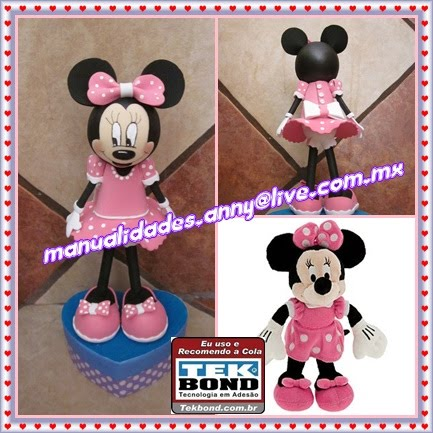 Fofucha minnie mouse rosa