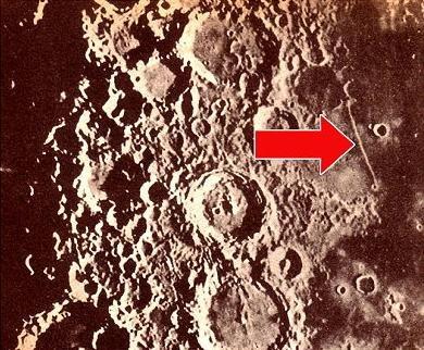 Edificaciónes extraterrestres en la Luna