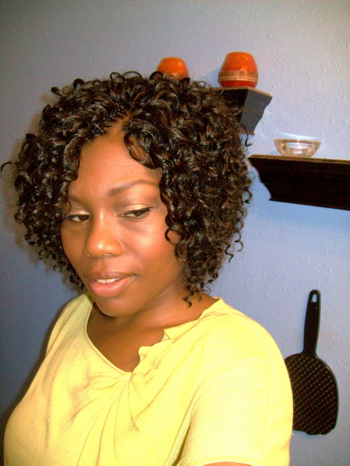Crochet Braids Updo Hairstyles also Crochet With Marley Hair Updo ...