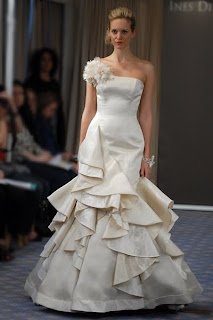a model in an Ines Di Santo gown
