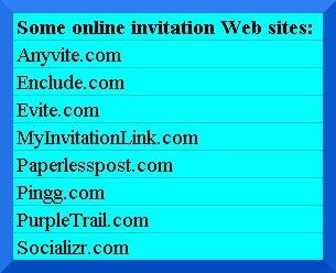 list of online invitation websites