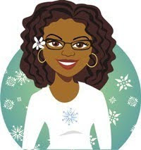 illustration of a smiling woman with glasses