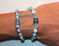 Earth Bead Bracelet Doubled