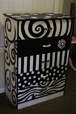Jjsparkles Black White Dresser For Sale
