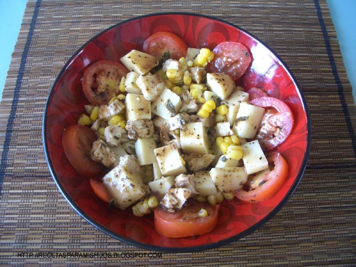 Recetario spanglish para mis hijos ensalada de pollo con for Compro casa asiago