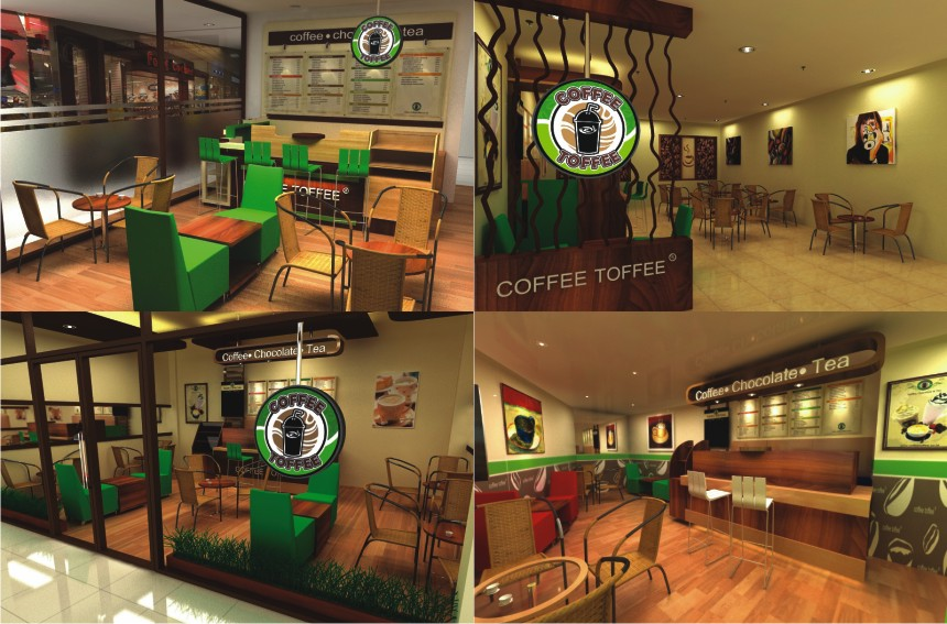 DESAIN INTERIOR COFFE TOFFE BY AL FURQAAN ISLAMIC ARTWORKS