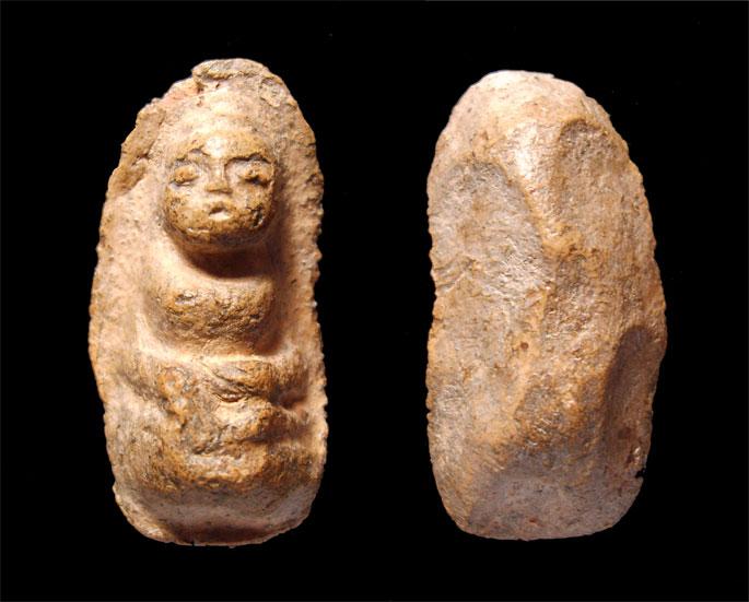 พระถ้ำเสือ พิมพ์ตุ๊กตาใหญ่ กรุถ้ำเสือ จ.สุพรรณบุรี