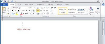 Office 2010 Ribbon Interface