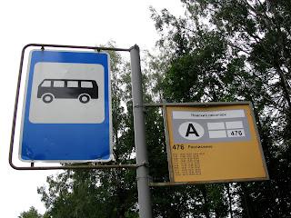 La parada de autobus