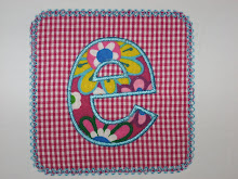 Applique Letter on Applique Patch