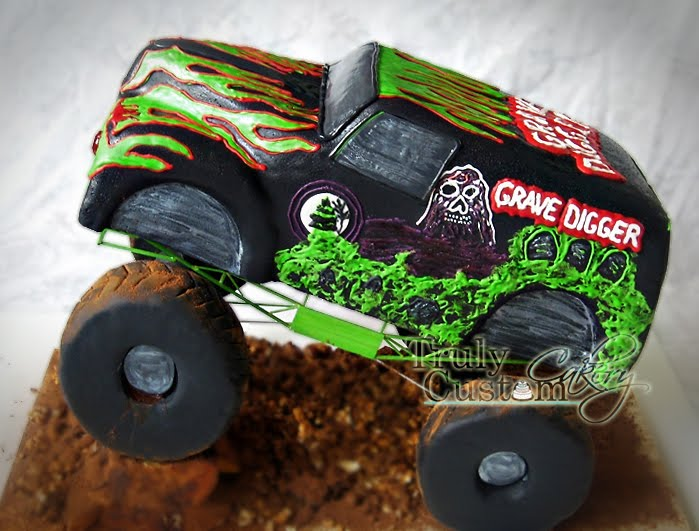 Staceys Sweet Shop Truly Custom Cakery LLC Grave Digger Monster