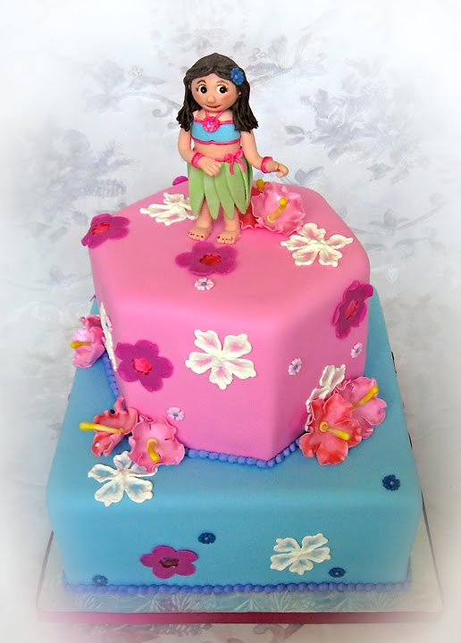 Staceys Sweet Shop Truly Custom Cakery Llc Hawaiian Luau Party Cake