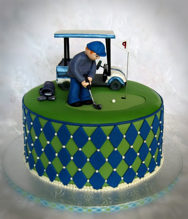 a Golf Theme Groom's cake