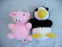 Free penguin and pig amigurumi patterns