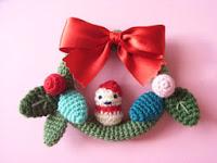 Free amigurumi christmas wreath pattern