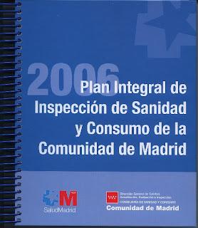 Portada del «Plan Integral de Inspección 2006», el último distribuido en forma de publicación