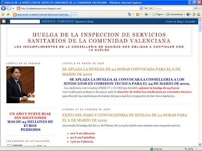 Clic para aumentar la imagen del Blog de Conflicto de la Inspección Sanitaria de Valencia