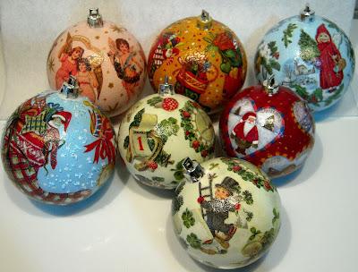 Декупаж - Новогодние шарики