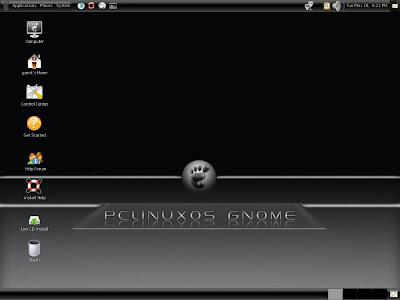 pclinuxos gnome 2008 screenshot