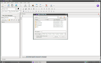 nvu on pclinux is similar to dreamweaver in xp