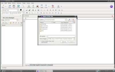 nvu on pclinux is similar to dreamweaver in xp