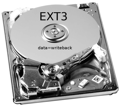 boost your ext3 filesystem by using data=writeback mode
