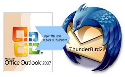 how to import mail from microsoft outlook in windows to thunderbird in linux