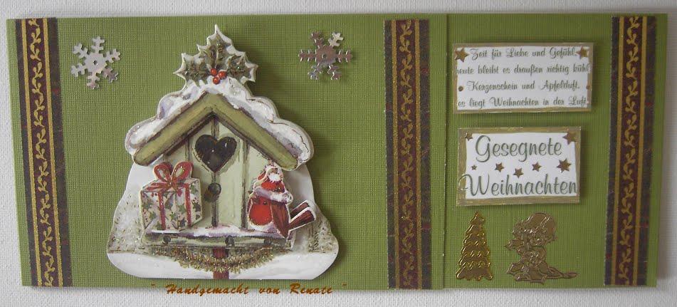 handgemacht von renate meine weihnachtskarten sind schlicht aber meist mit spr chen. Black Bedroom Furniture Sets. Home Design Ideas