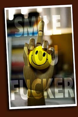 memo to self: smile you fucker