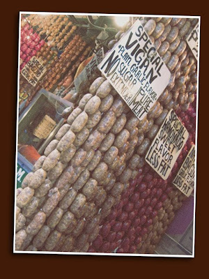 sausage curtain in baguio market