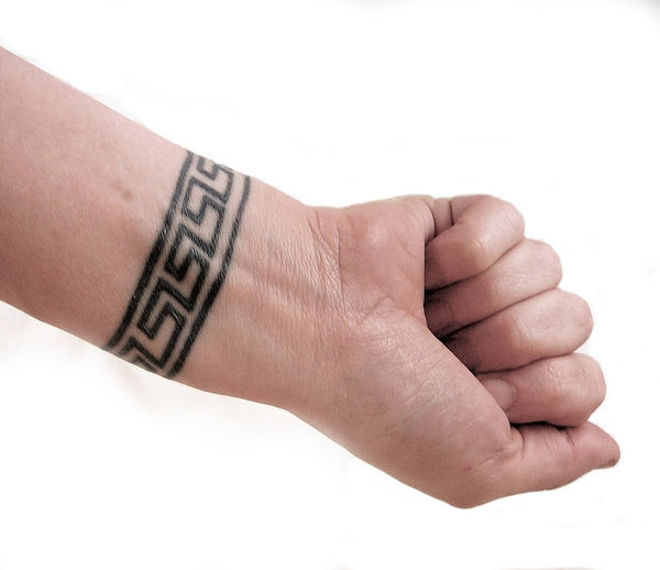 wrist band tattoo. makeup star tattoos for wrist