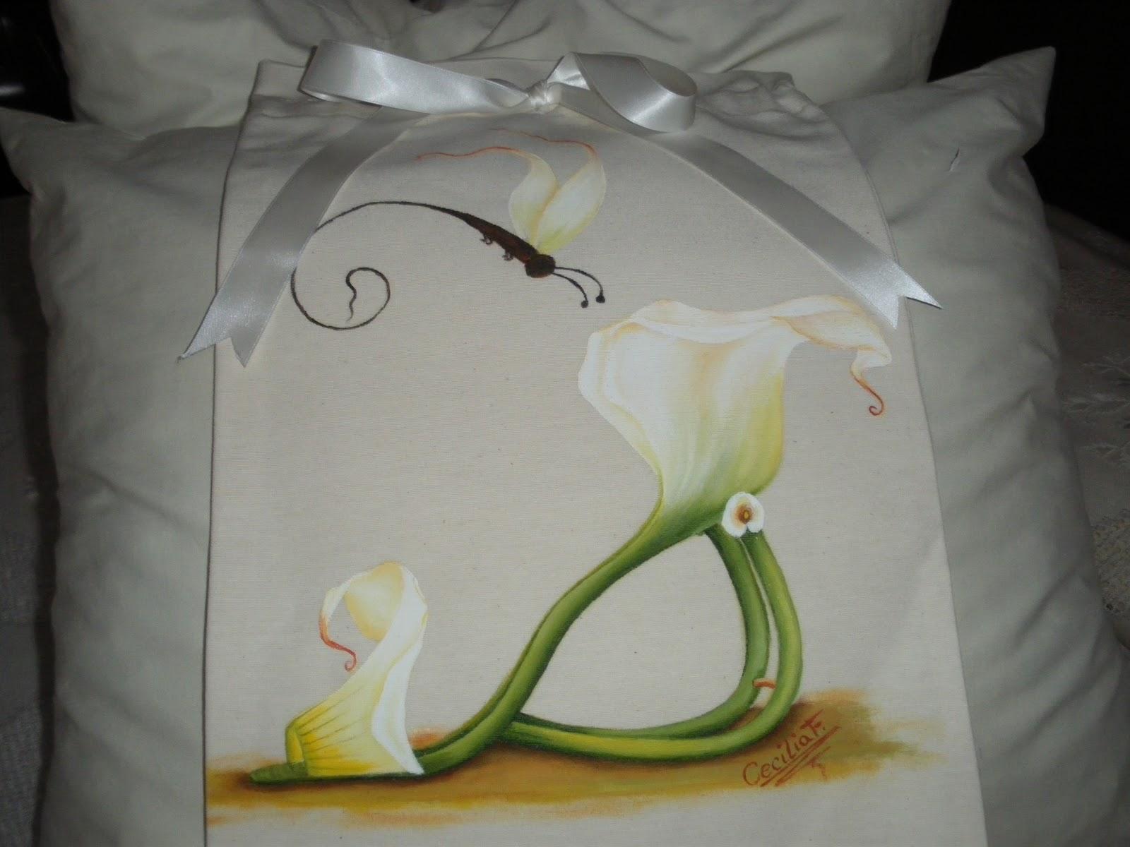 Artesania pintura en tela y manualidades bolsa para - Como pintar telas a mano ...