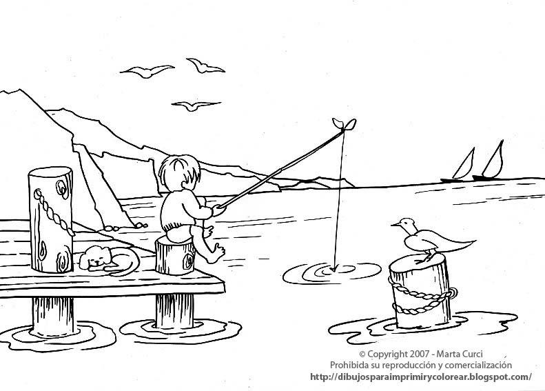 Dibujos para imprimir y colorear de las vacaciones: Dibujo para ...