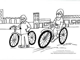 Dibujo de Bicicleta básica para Pintar y Colorear en Línea