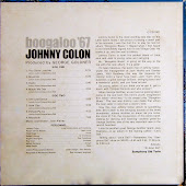 BOOGALOO 1967 JOHNNY COLON