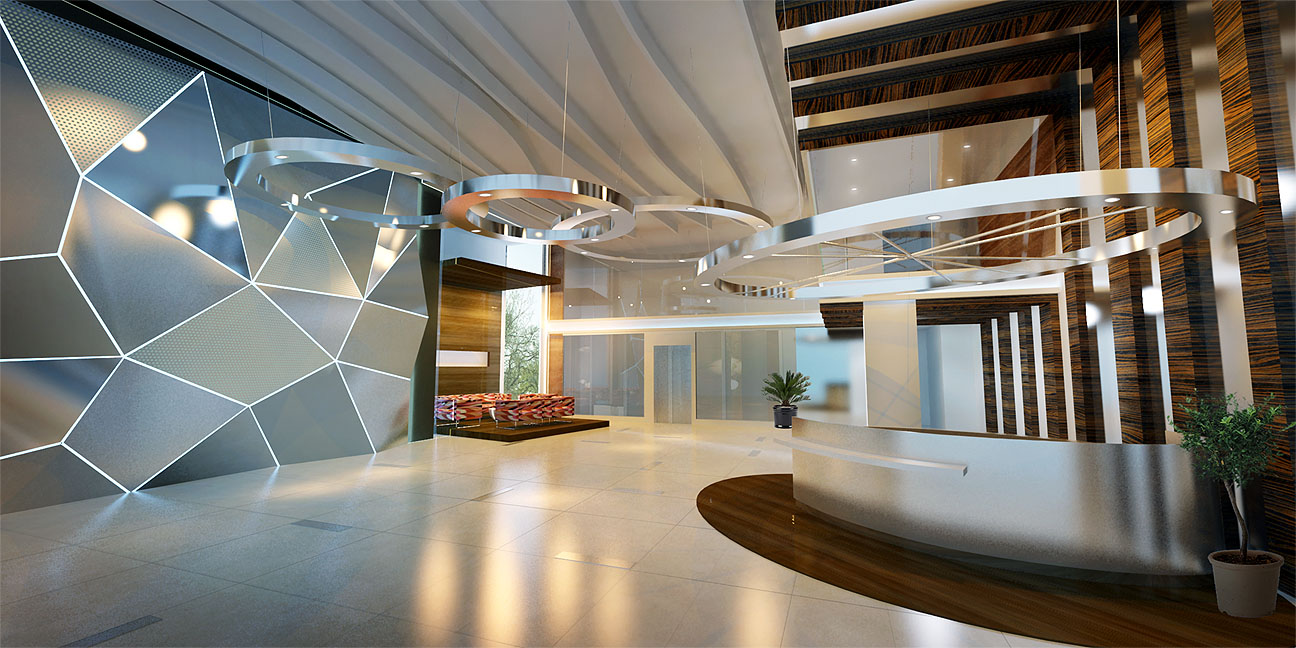 Apartment Lobby Interior Design