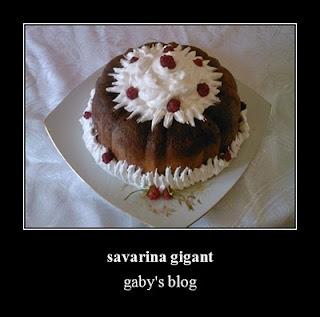 Articole culinare : savarina gigant