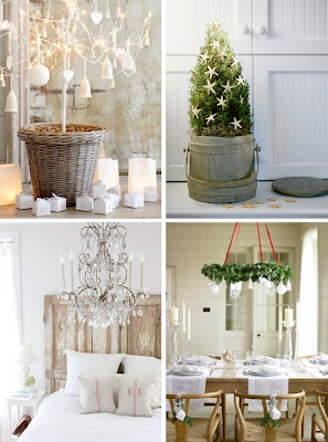 image via a beach cottage - Beach Style Christmas Decorations