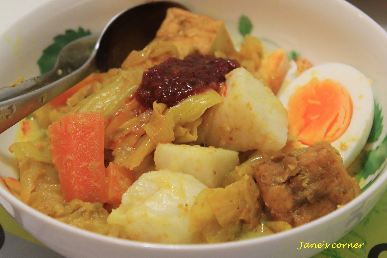 Janes CornerSayur Lodeh with Ketupat (Lontong)